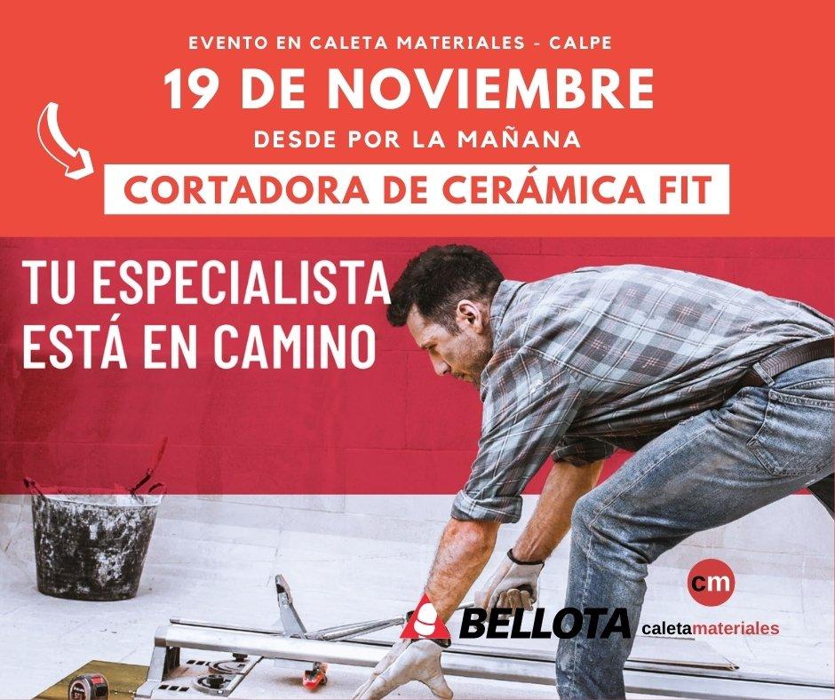 19 de noviembre cortadora cerámica bellota caleta materiales