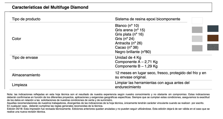 características multifuge diamond mc 1